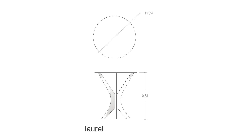Detalles técnicos mesa de compañía Laurel