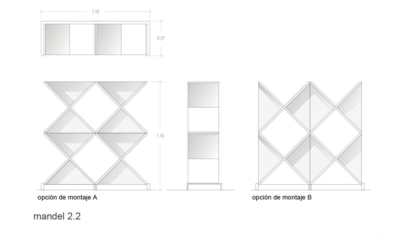 Medidas estantería Mandel 2.2