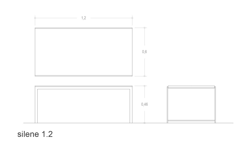 Medidas de la mesa rectangular Silene 1.2
